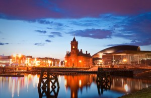 Cardiff Bay development.
