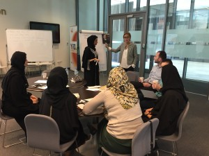 Leading a workshop with UP members in Masdar on (topic).